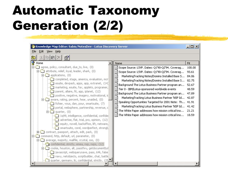 Automatic Taxonomy Generation (2/2)