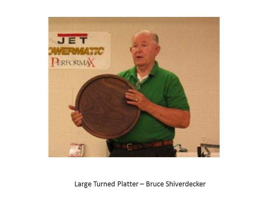 Large Turned Platter – Bruce Shiverdecker