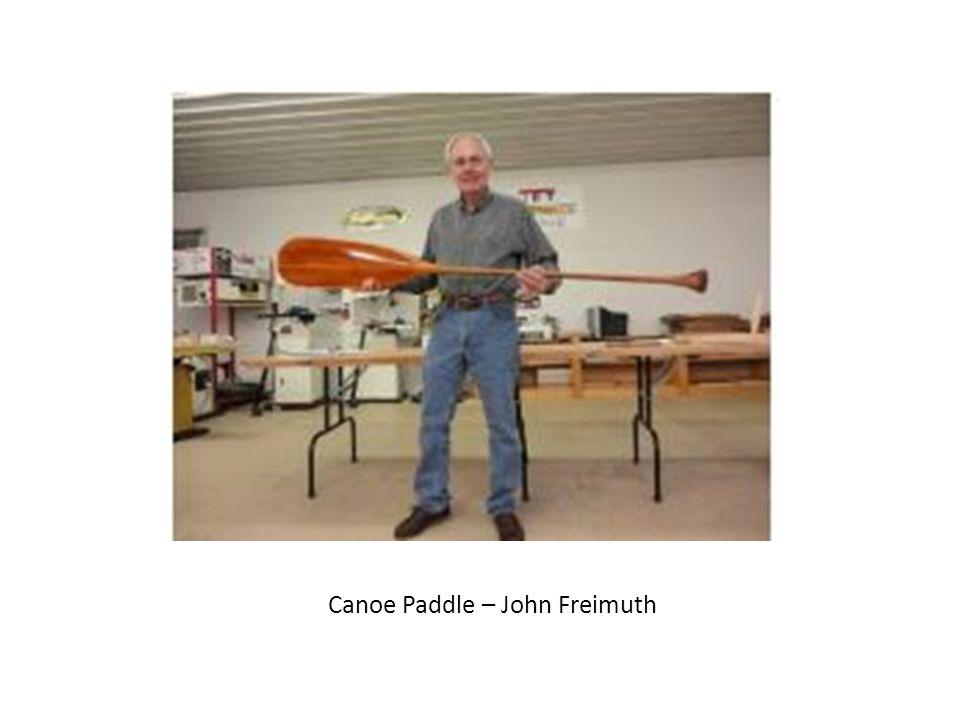 Canoe Paddle – John Freimuth