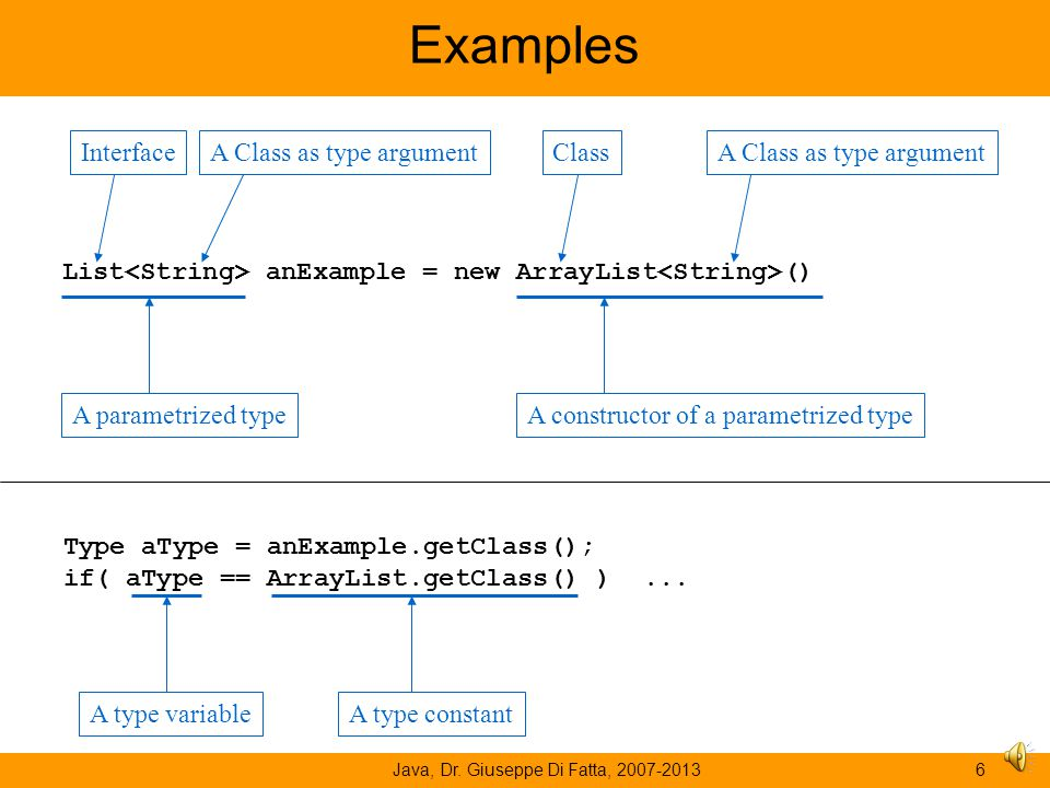 Interface and class Java, Dr. Giuseppe Di Fatta, 2007-20135