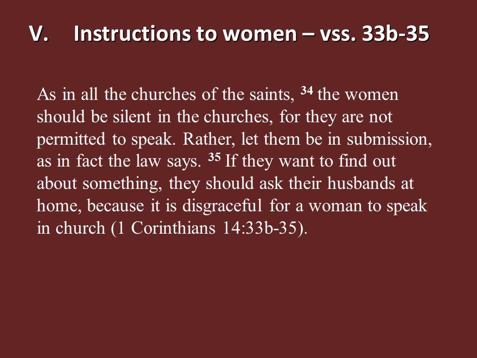 V.Instructions to women – vss.