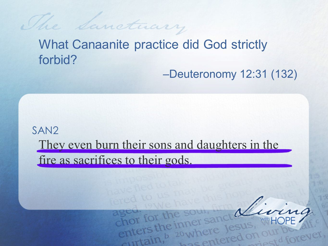 Who was the facilitator of the sacrificial system.