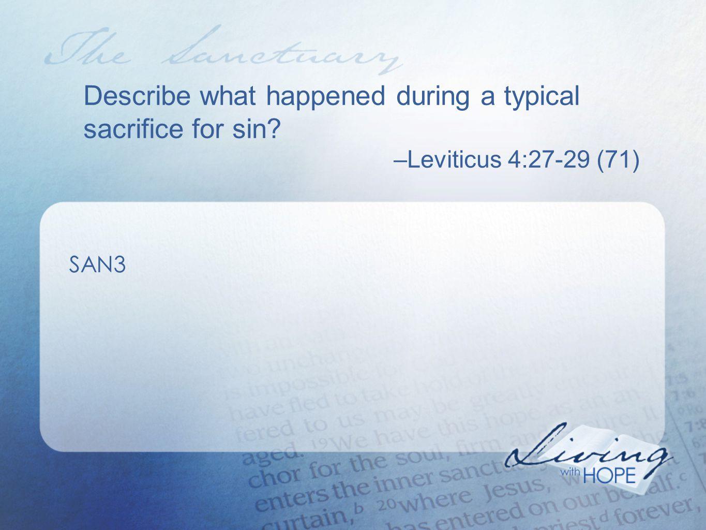How does Hebrews describe the reconciliation ministry of Jesus today? –Hebrews 8:1-2 (832) SAN11