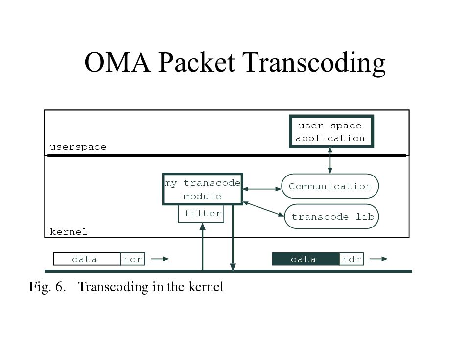OMA Packet Transcoding