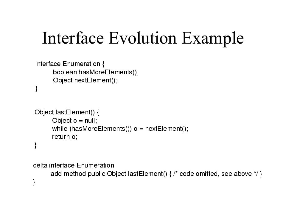 Interface Evolution Example