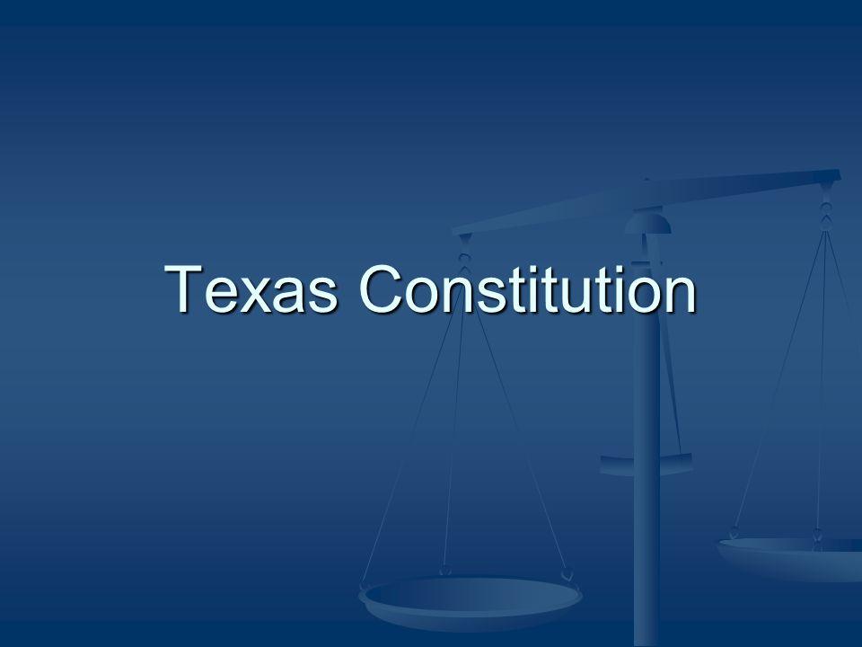 Texas Constitution