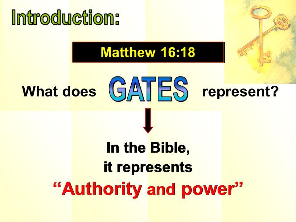Matthew 16:18,19….