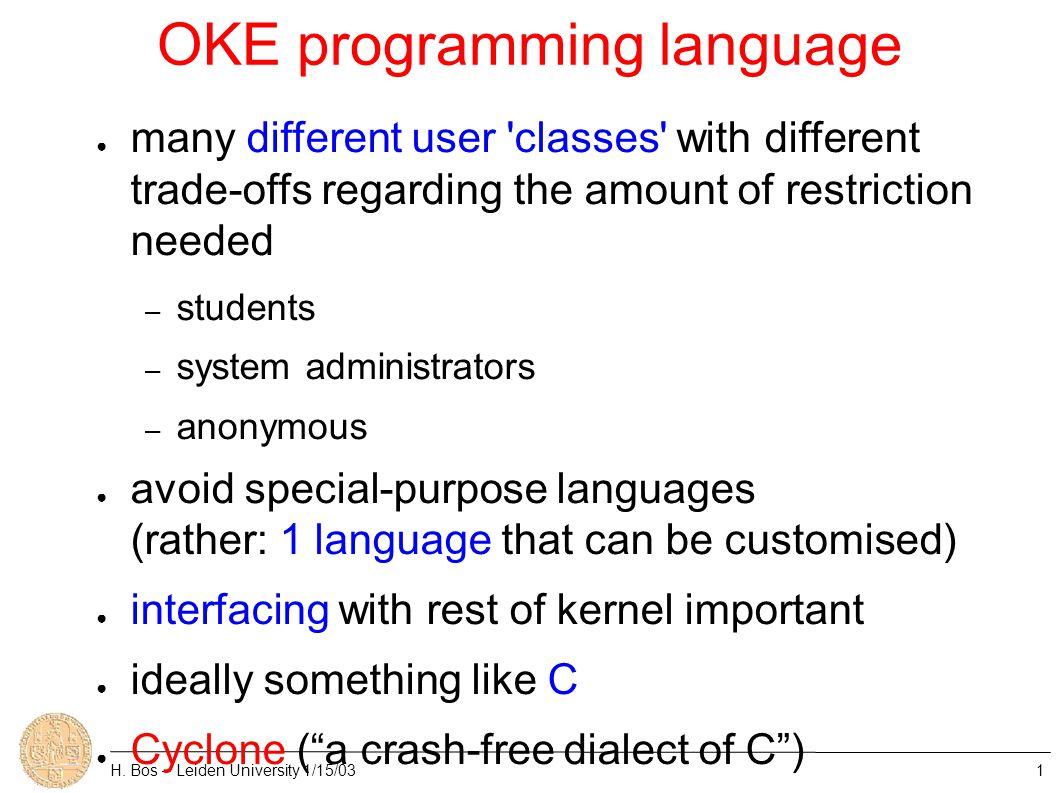 OKE programming language H.