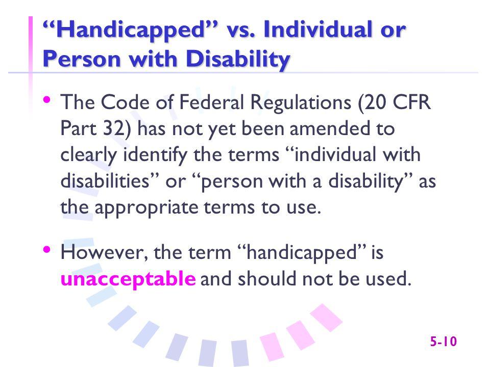 5-10 Handicapped vs.