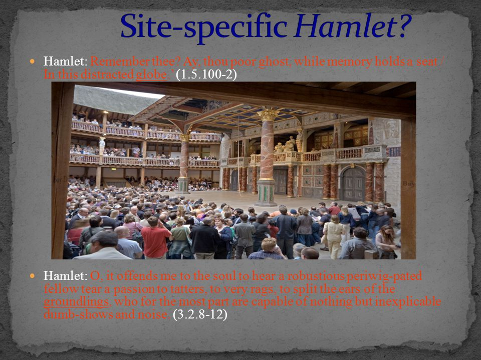 Hamlet: Remember thee.