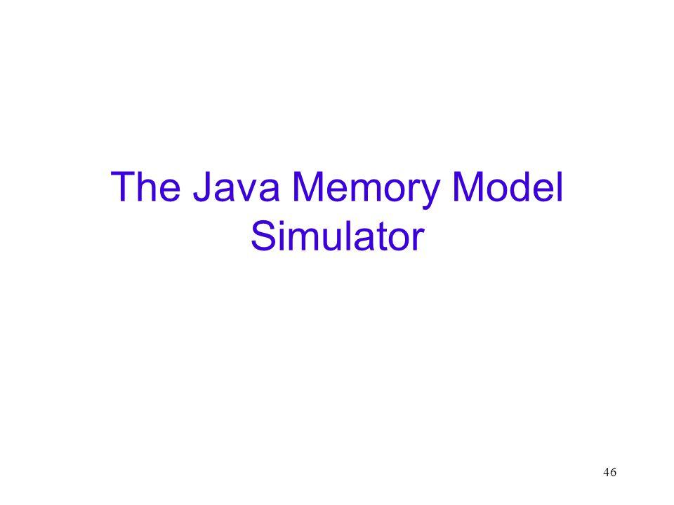 46 The Java Memory Model Simulator