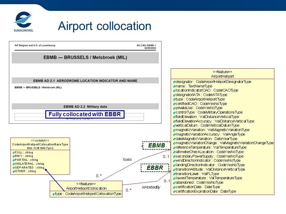 Airport collocation Fully collocated with EBBR EBBR EBMB