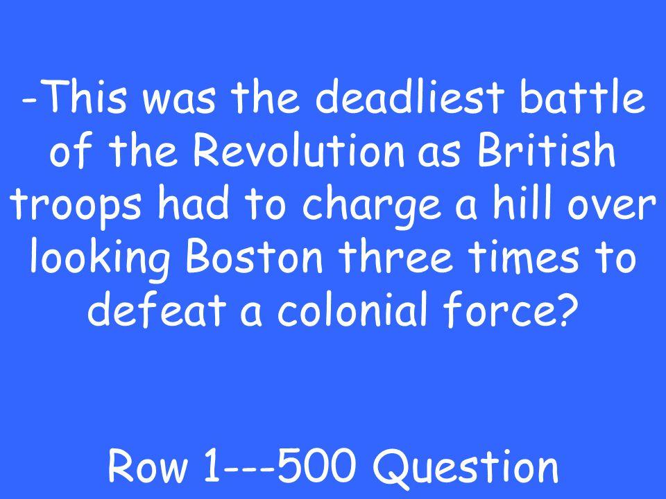 -Lexington and Concord Row 1---400 Answer
