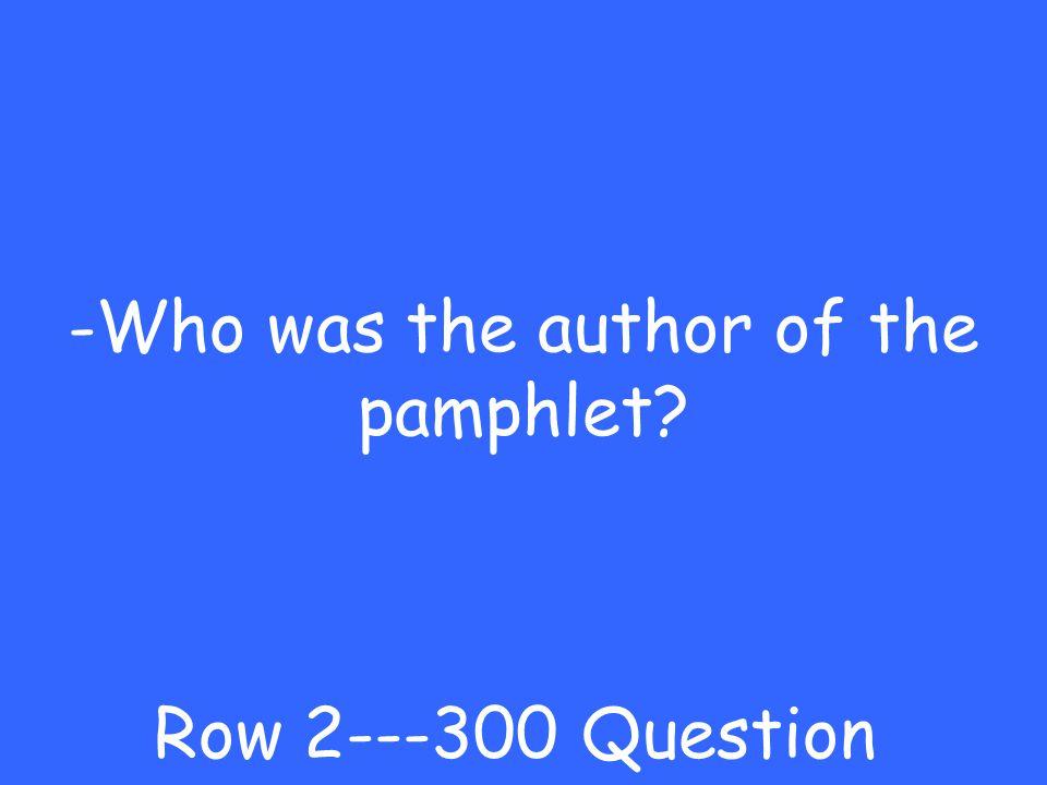 -Common Sense Row 2---200 Answer