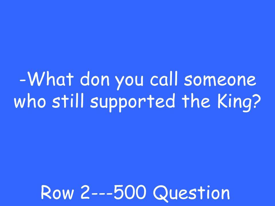 -Patriot Row 2---400 Answer