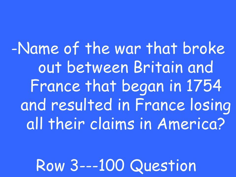 -Loyalist Row 2---500 Answer