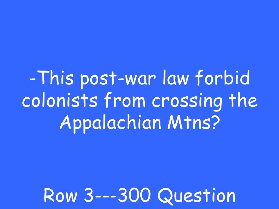 -Albany Plan Row 3---200 Answer