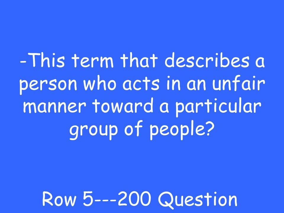 -Communist Row 5---100 Answer