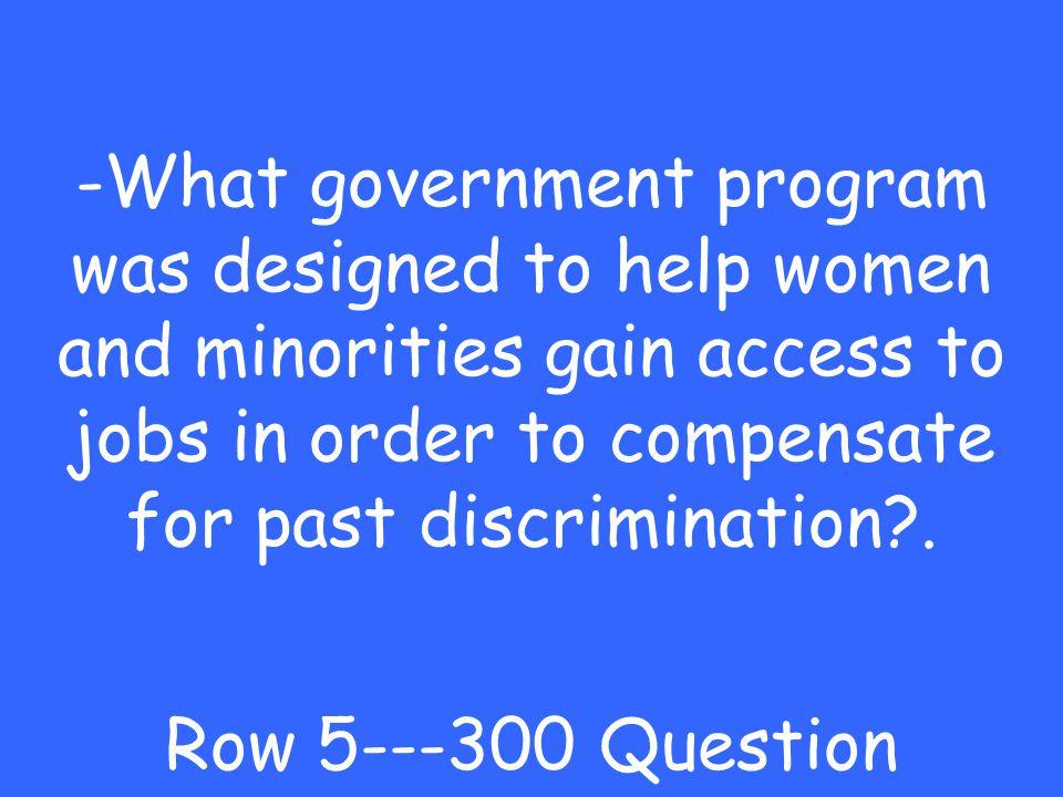 -discrimination Row 5---200 Answer