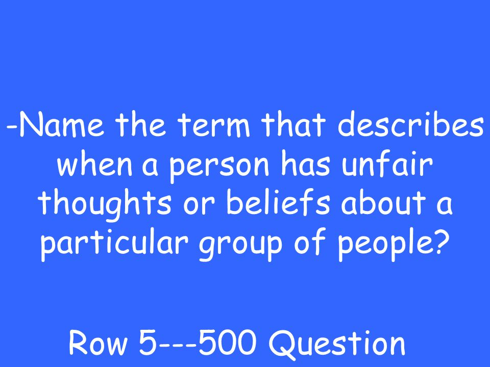 -Quakers Row 5---400 Answer