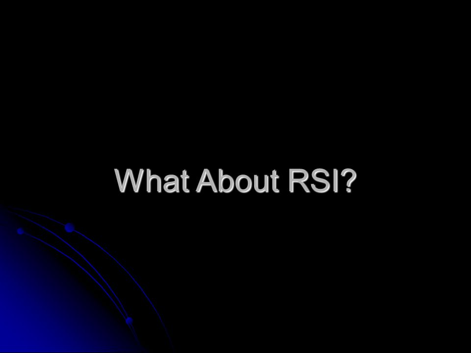 What About RSI?