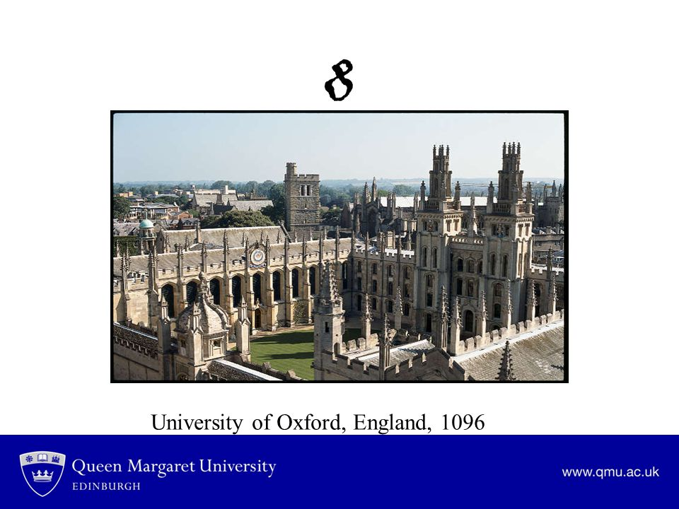 8 University of Oxford, England, 1096