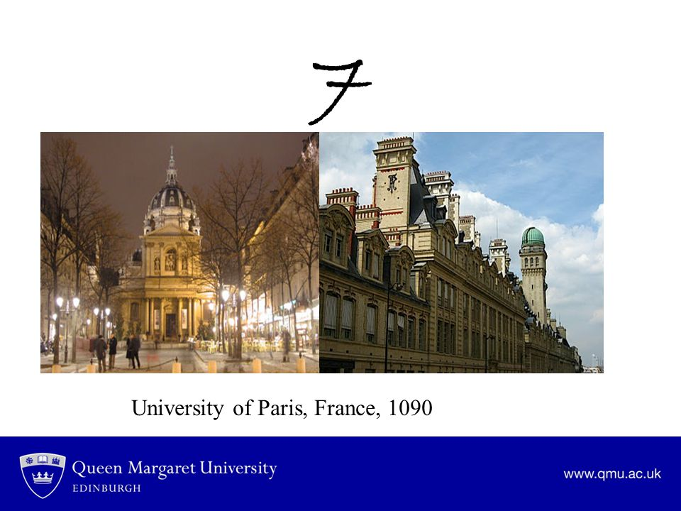 7 University of Paris, France, 1090
