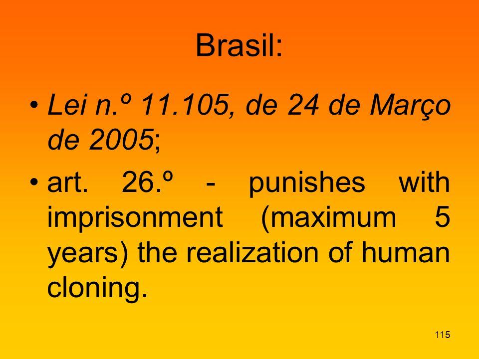 Brasil: Lei n.º 11.105, de 24 de Março de 2005; art.
