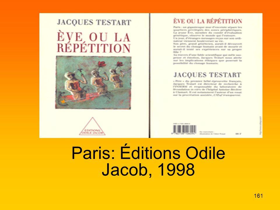 Paris: Éditions Odile Jacob, 1998 161