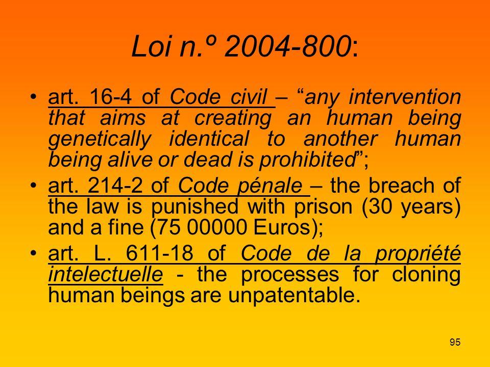 Loi n.º 2004-800: art.