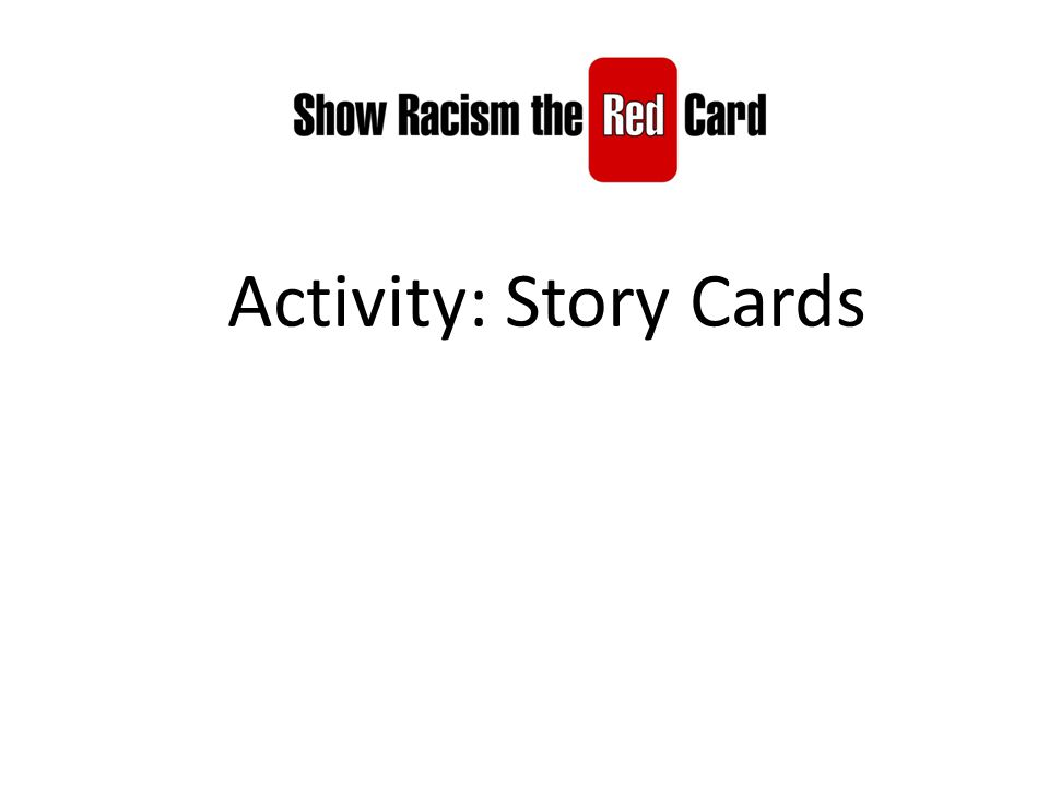 Activity: Story Cards