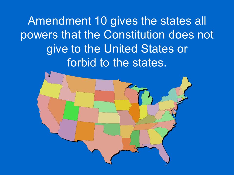 This ends our study of the Bill of Rights.