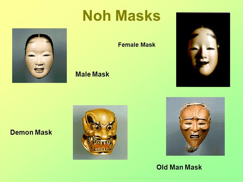 Noh Masks Female Mask Male Mask Old Man Mask Demon Mask