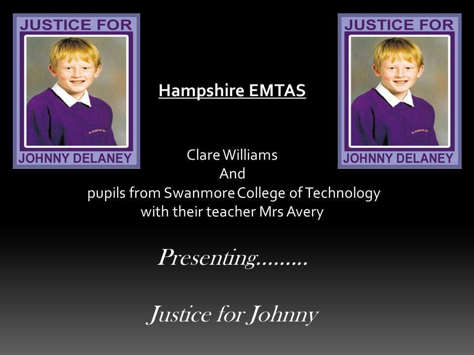 Hampshire EMTAS Clare Williams And pupils from Swanmore College of Technology with their teacher Mrs Avery Presenting.........