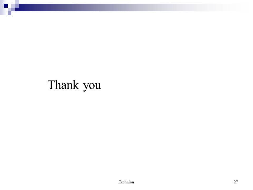 Technion27 Thank you