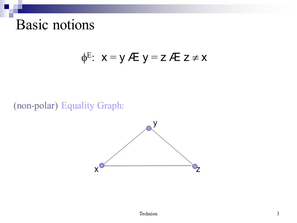 Technion14 Applying RTC How can we use the theorem without enumerating contradictory cycles .