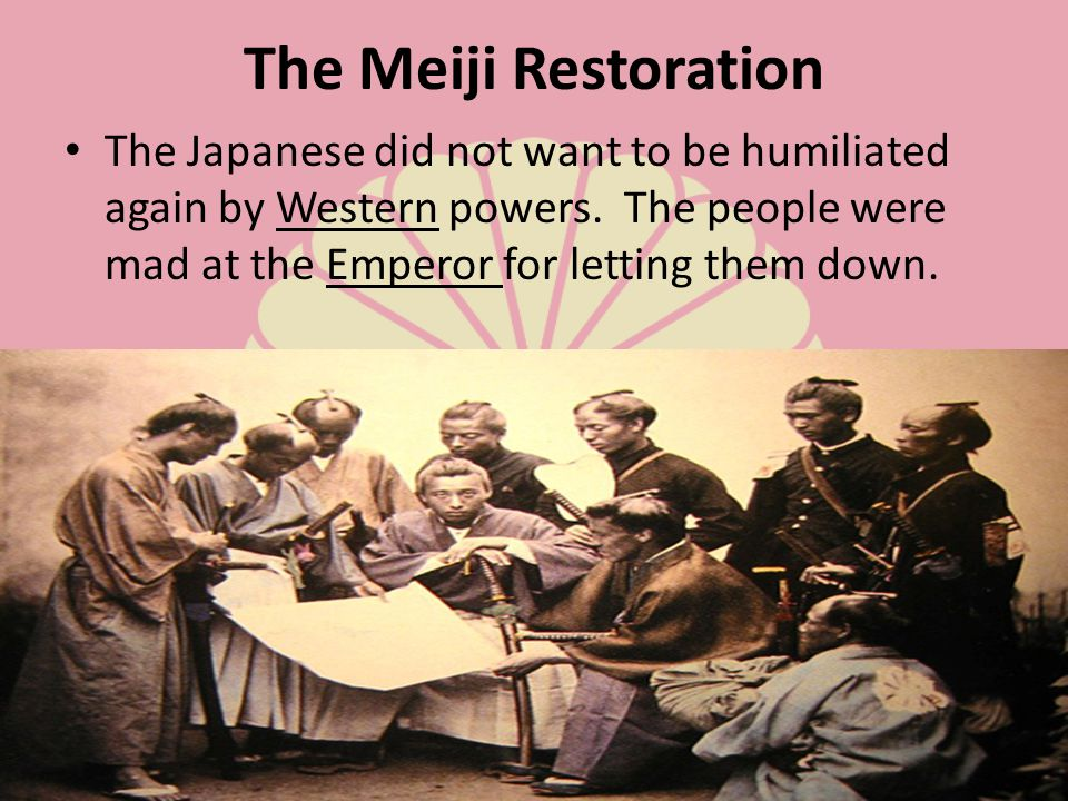 To modernize Japan, leaders of the Meiji government studied Western institutions and technology.