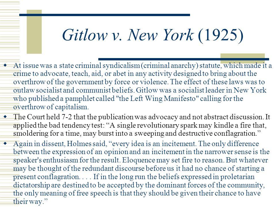 Gitlow v.