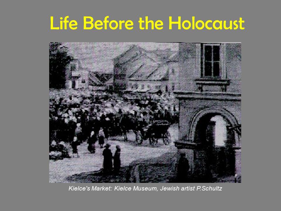 Life Before the Holocaust Kielce's Market: Kielce Museum, Jewish artist P.Schultz