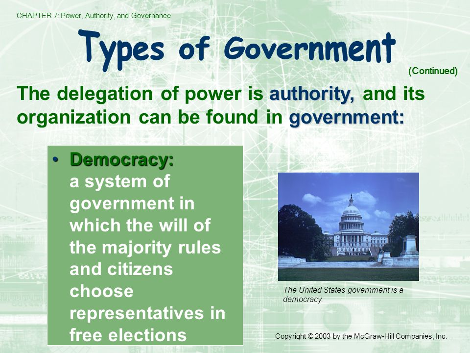 CHAPTER 7: Power, Authority, and Governance Copyright © 2003 by the McGraw-Hill Companies, Inc.