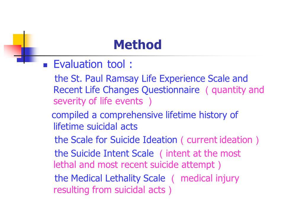Method Evaluation tool : the St.