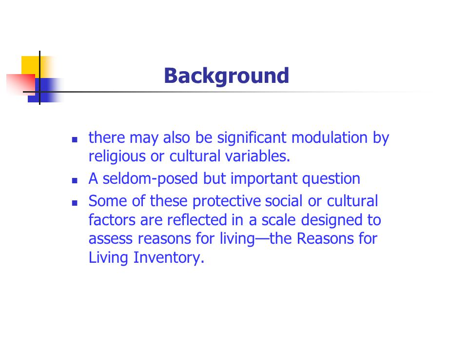 Background there may also be significant modulation by religious or cultural variables.