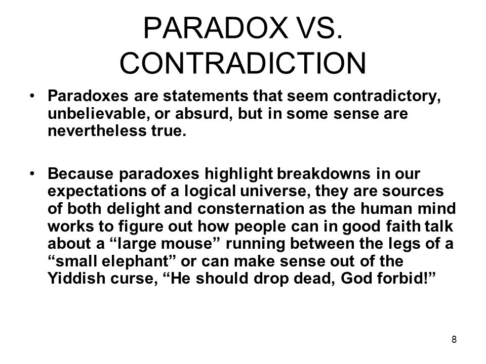8 PARADOX VS.