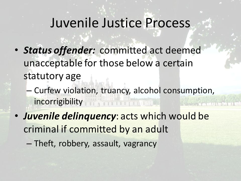 The Courts' Impact on Juvenile Justice Many judges were treating status offenders harshly– same as law violators Kent v.