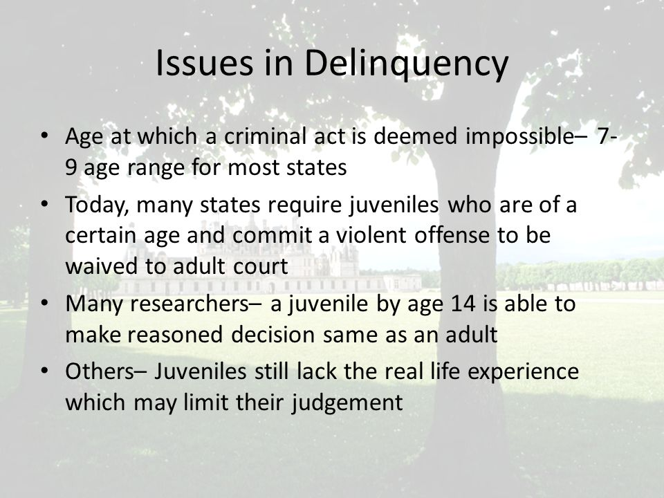 Issue in Delinquency Roper v.