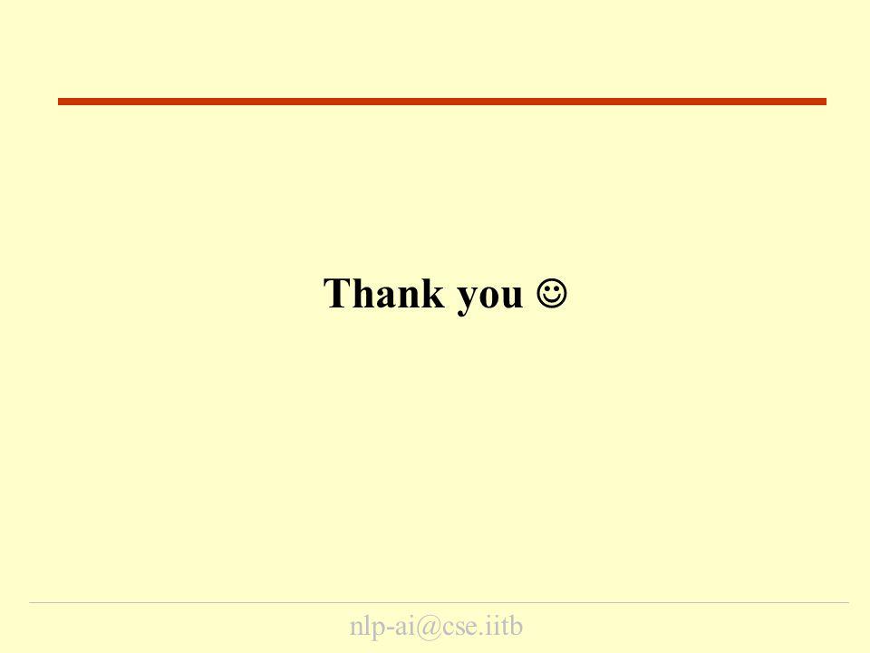 nlp-ai@cse.iitb Thank you End
