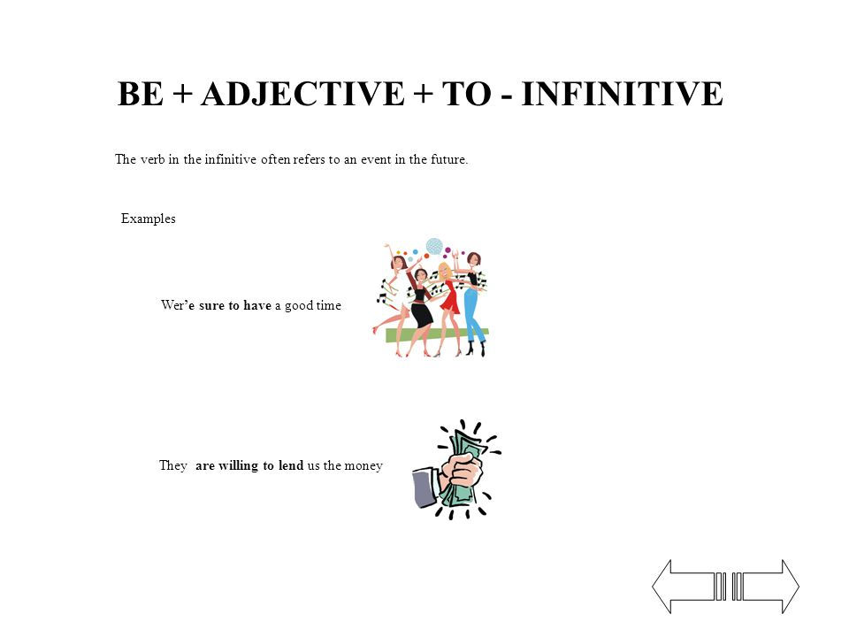 We can use adjective of feeling, adjectives describing personal characteristics + ofperson, adjectives describingthe activity before the to-infinitive.