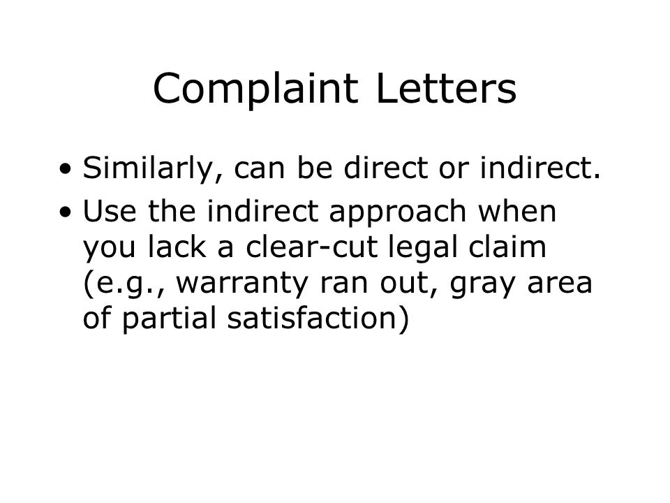 Closing the letter: Make a counterproposal. Indicate that the continued relationship is valuable.