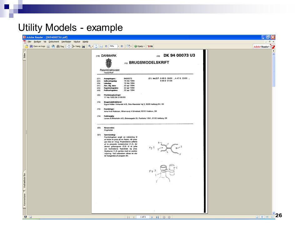 26 Utility Models - example