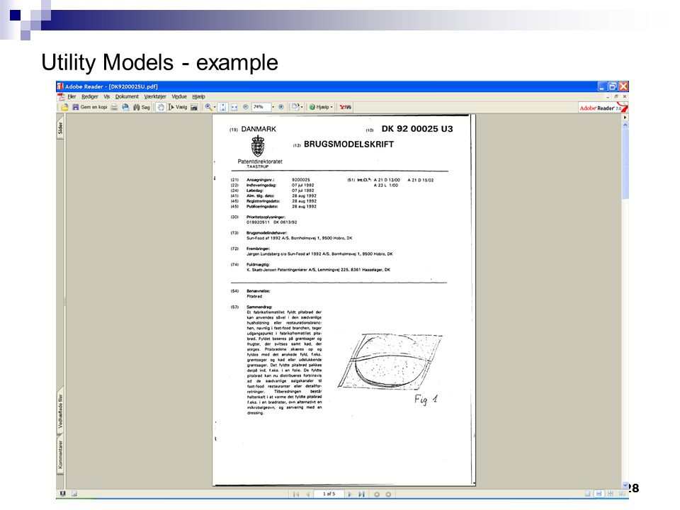 28 Utility Models - example